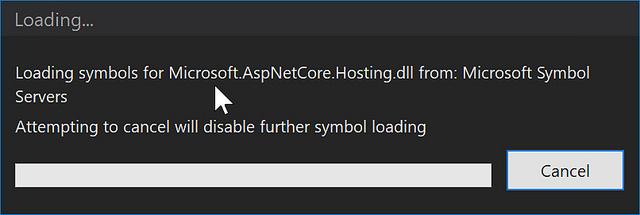 debugging aspnet core